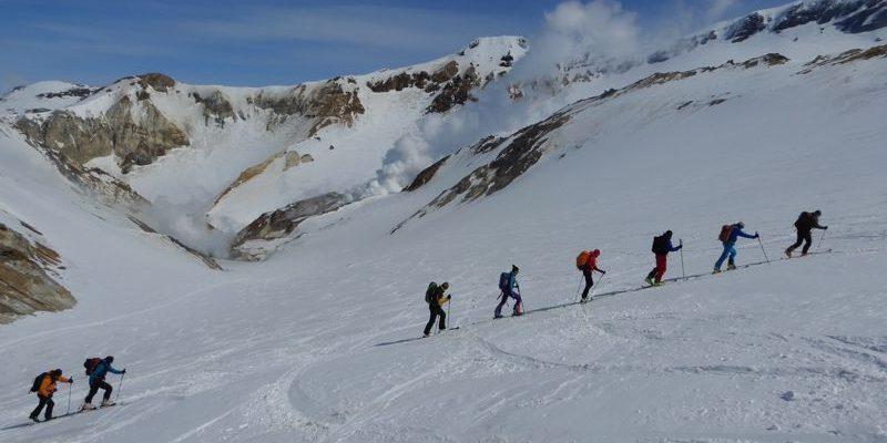 Hohenbergsteigen Skitour Kamtschatka 11